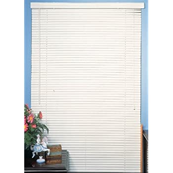 Amazoncom White Vinyl 1 Mini Blinds 26 Wide x 64 Long Home