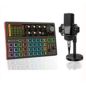 Flashandfocus.com 51vIsjcS7GL._SS300_ Podcast Equipment Bundle with Podcast Condenser Microphone, Audio Interface with DJ Mixer and live Sound Card and Sound…