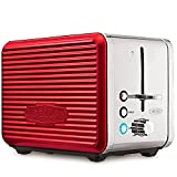 BELLA 14093 Linea Collection 2 Slice Toaster, Red