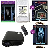 AtmosFearFx Christmas & Halloween Projector Kit includes 800 x 480 Projector, Hollusion Doorway + Kringle Bros Projection Screens, Christmas & Apparitions 1 Compilation Videos on USB.