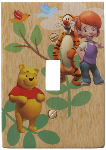 (Amerelle D5201T Disney Licensed My Friends Tigger and Pooh Single Toggle Wallplate, Yellow)