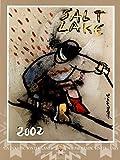 Salt Lake City 2002 Down Hill Skier Olympics Poster by Cristobal Gabarron 18 x 24in with Poster Hanger