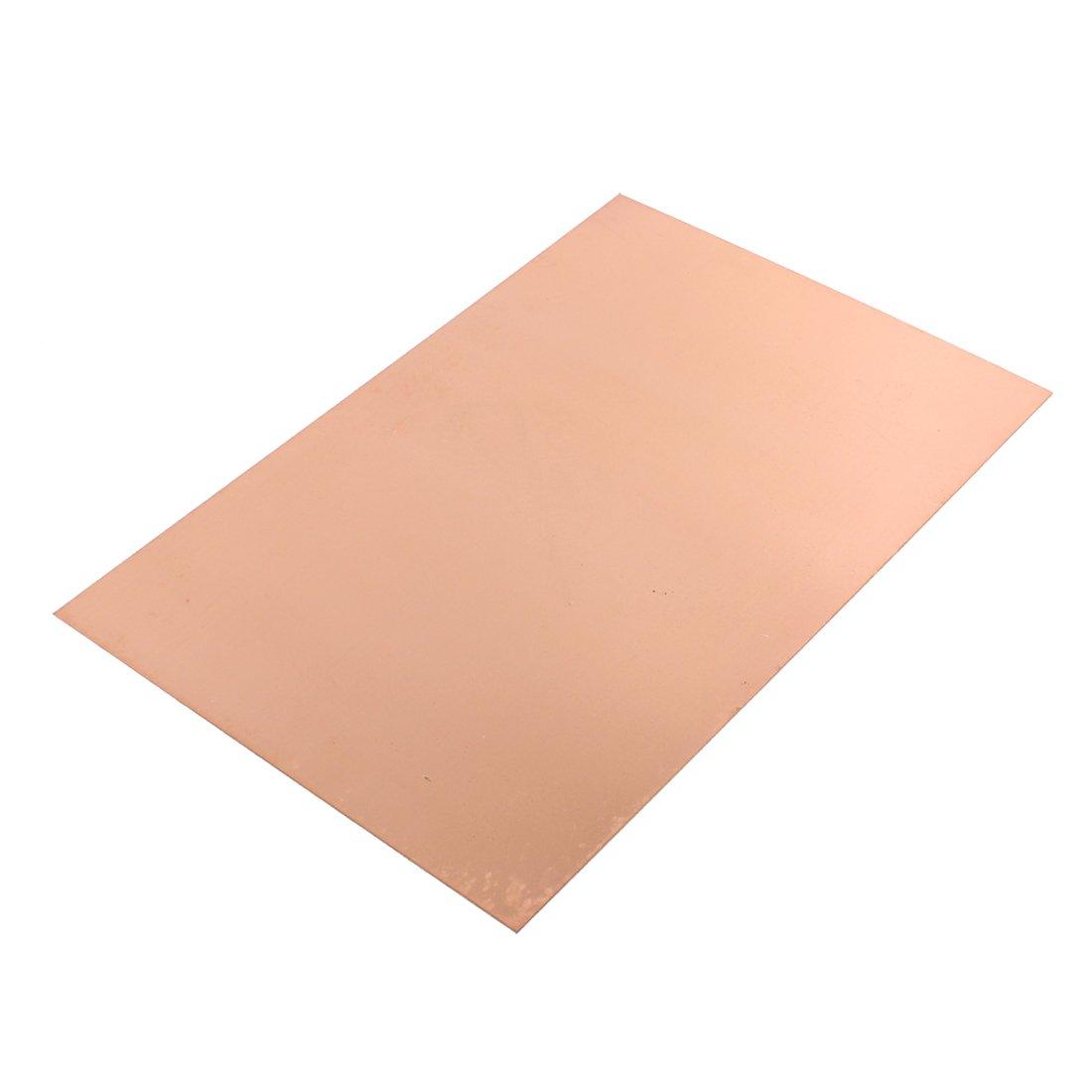 sourcing map PCB Placa de circuito marró n De un solo lado con revestimiento de cobre laminado