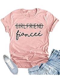 NANYUAYA Women Girlfriend Fiancee Funny Letter Print Top Engagement T Shirt