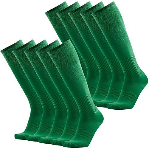 Green Baseball Socks, 3street Men's Arch Compression Support Athletic Soccer Football Socks Green 10 Pairs
