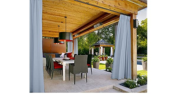 chadmade Pinch Pleat térmica aislante opaco Patio puerta cortina Panel Drape para barra de Traverse y Track, (1 Panel), azul celeste, 90Wx108L: Amazon.es: Jardín