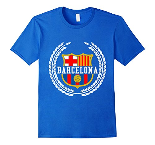 Mens Barcelona Spain Spanish Flag Europe T shirt XL Royal Blue - Barcelona Graphic T-shirt