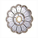 Elegant Lighting MD408D24GC 24 in. Mirror Medallion, Gold With Clear Mirror