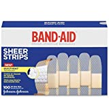 Band-Aid Brand Adhesive Bandages Sheer, All One Size, 100 Count