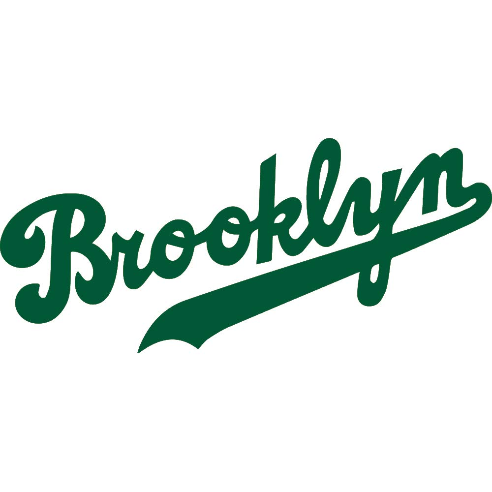 Nbfu decals mlb los angeles dodgers logo brooklyn green set of 2 premium waterproof vinyl decal stickers for laptop phone accessory helmet car window