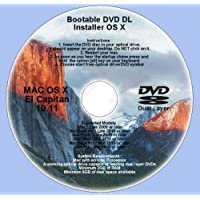 DVD DL, Mac OS X 10.11 El Capitan Full OS Install Reinstall Recovery Upgrade