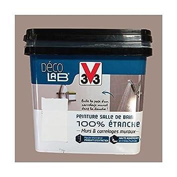 V33 Déco LAB Peinture Salle De Bain 100% Etanche Humus