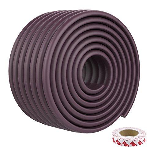 KOOLDOO 15.7ft Extra Wide Edge Corner Guard Baby Proofing Corner Guards Edge Cushion (Brown)