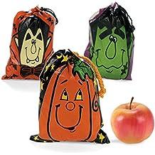 Large Halloween Drawstring Goody Bags (3 Dozen)