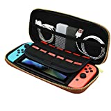 Coohole NEW Tough Case Pouch Travel Carry Bag For Nintendo Switch Console (Black)