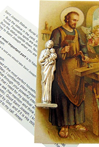 Westman Works St Joseph Home Seller Prayer Kit with Metal Saint Statue Holy Card and Instructions -