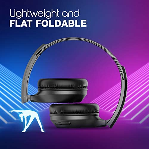 Infinity (JBL) Glide 510, 72 Hrs Playtime with Quick Charge, Wireless On Ear Headphone with Mic, Deep Bass, Dual Equalizer, Bluetooth 5.0 with Voice Assistant Support for Mobile Phones (Black)