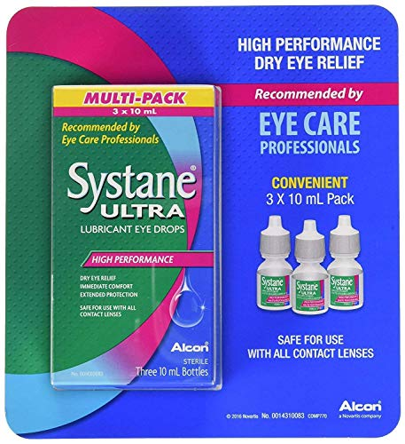 Systane Sterile Ultra High Performance Lubricant Eye Drops - 3 Pk x 10 ml / 0.33 Fl.Oz