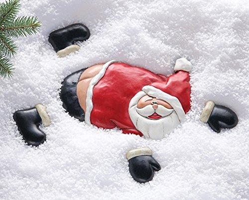 Flat Santa Christmas Ground Yard Decoration- 5 Pc