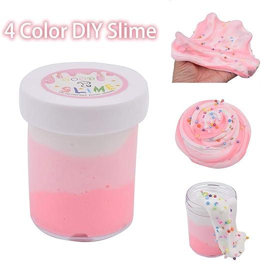 Luccase 120 ml mullida Moca aromatizante algodón de azúcar Wolke Clay estrés Relief Juguete Party Interactivo Juguete de Aprendizaje, Rosa, 120 ml: Amazon.es: Hogar