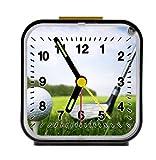golf ball green field course brassie Alarm Clock Home Kitchen Decorative 3.27Inch