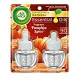 Air Wick Scented Oil 2 Refills, Pumpkin Spice, (2X0.67oz), Air Freshener