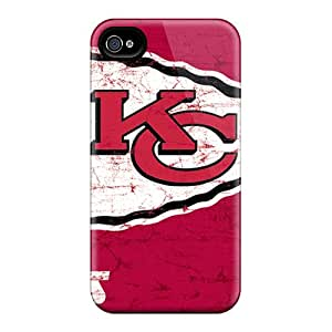 New Style Case Cover JuqNEVF-6252 Kansas City Chiefs Compatible With Iphone 4/4s Protection Case
