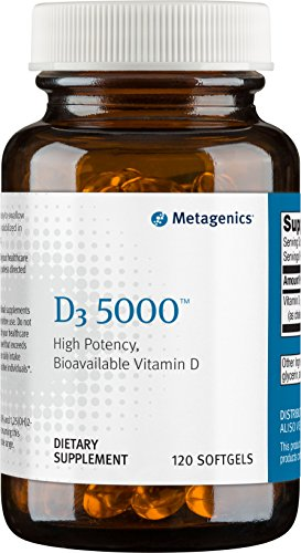 Metagenics, D3 5000, 120 Softgels (packaging may vary)