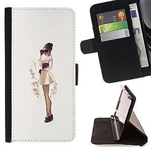 Momo Phone Case / Flip Funda de Cuero Case Cover - Sépia japonaise Jupe Robe - Samsung Galaxy S4 Mini i9190