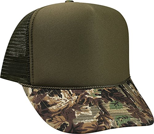 OTTO Camouflage Foam Front 5 Panel High Crown Mesh Back Trucker Hat - ()