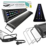 5 gallon aquarium light hood - Koval Inc. Fish Tank Aquarium Hood Blue and White LEDs Light Fixture with Adjustable Brackets for Freshwater and Saltwater