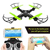 SKYKING S-08W WIFI FPV Version RC Quadcopter with IPHONE & ANDROID App Remote Controlled Flying Drone with HD Camera Live Video Recording Best Drone for Beginners & Kids