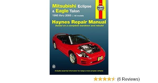 amazon com haynes repair manuals mitsubishi eclipse eagle talon rh amazon com 1995 Eagle Talon Esi 1995 eagle talon tsi owners manual