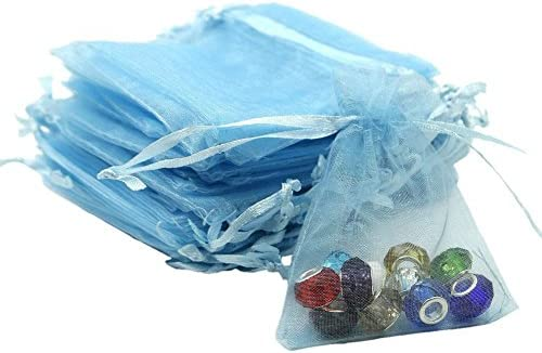 Organza Bags 100pcs 4 x 6 Inch Gift Bags Organza Drawstring Pouch Jewelry Party Wedding Favor Party Festival Gift Bags Candy Bags (White)