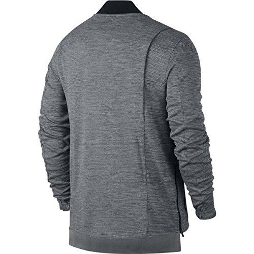 NIKE Men's Hyper Elite Basketball Jacket 830833 (Carbon Heather/Black, Medium)