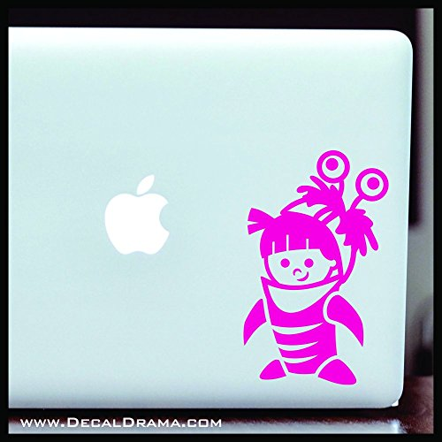 (Boo in Monster Costume, Monster's Inc-inspired Fan Art SMALL Vinyl Car/Laptop Decal | Disney Pixar Sully Mike Wazowski Scare Floor | Cars Trucks Laptops Windows Cups Mugs Walls | Made)