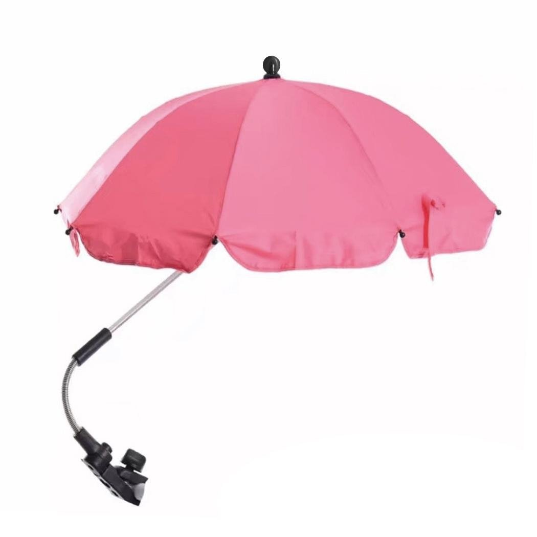 Queenfashion Baby Stroller UV Protection Sun Umbrella Parasol Buggy Pushchair Pram Sunshade Shade Canopy (pink)