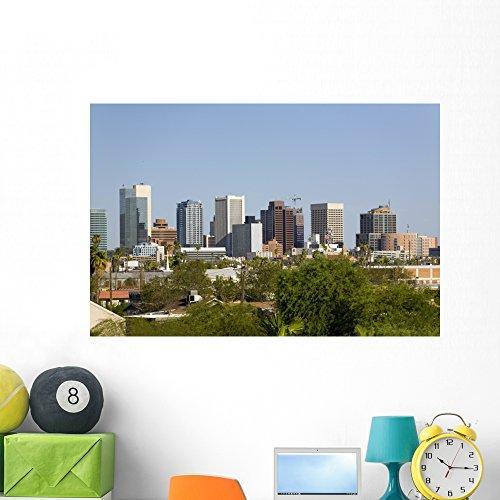 Glass Phoenix Az - Wallmonkeys City Phoenix Downtown Az Wall Mural Peel and Stick Graphic (48 in W x 32 in H) WM249338
