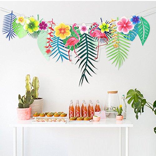 Hawaiian Luau Party Decorations Tropical Tiki Hibiscus Flowers And