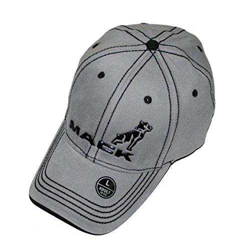 Mack Trucks Black & Gray Stretch Fit Contrast Stitch Cap/Hat -