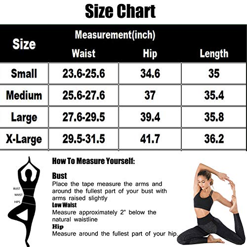 Womens High Waisted Seamless Leggings Tummy Control Workout Gym Athletic Yoga Pants Butt Lift Compression Skinny Tights