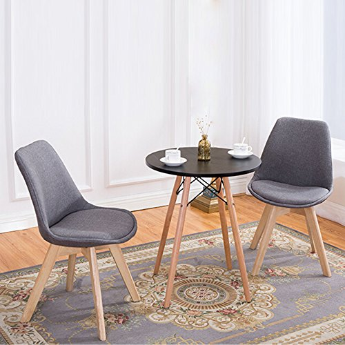 CO-Z Contemporary Mid Century Dining Chairs, Modern Side Chair for Kitchen, Office, Living Room, Bedrooms and More - bedroomdesign.us
