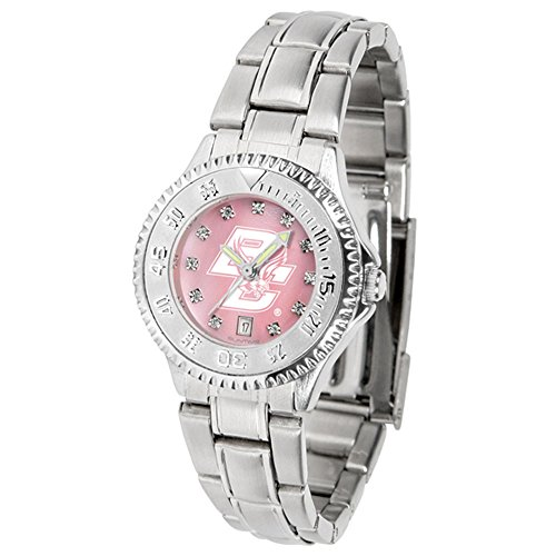 boston-college-eagles-ncaa-mother-of-pearl-competitor-womens-watch-metal-band