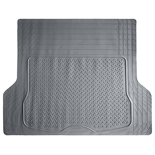 COPAP Heavy Duty HD Rubber Cargo Liner Floor Mat Weathershield Trim-to-Fit All Season Protection for Cars, SUVs, Vans, Truck (Gray) ()
