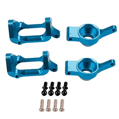 SkyQ 1/18 Wltoys Upgrade Parts Alloy Front/Rear Hub Carrier for A949 A959 A969 A979 K929 Blue 4pcs