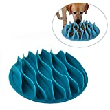 Blueyouth Slow Feeder Dog Bowl, Pet Interactive Fun Feeder Slow Bowl, Ant-Choking Wave Lines Slow Feeder Bowl for Dogs, Cats Training.