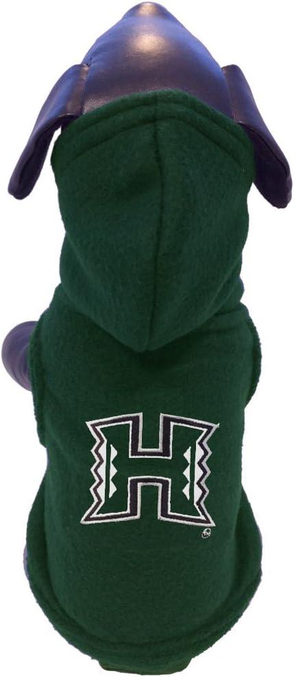 NCAA Hawaii Rainbow Warriors Polar Fleece Hooded Dog Jacket Tiny