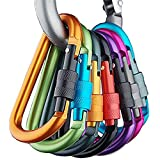 Banner Bonnie 6pcs Aluminum Carabiner Screw...