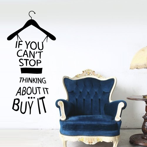 Amazoncom Wall Decals Quotes Inspirational Clothes Hanger If You