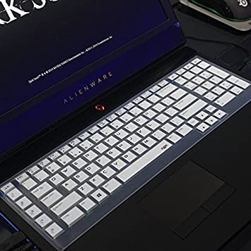 Alienware 17 R2 R3 R4 R5 2015//2016//2018 Version Leze 2013 Version TPU ,Such as Alienware AW17R4,AW17R3 AW17R5 Gaming Laptop Ultra Thin Soft Keyboard Protector Skin Cover for Dell Alienware 18